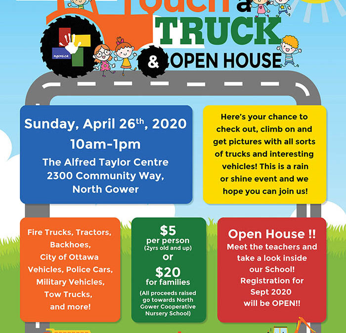 CANCELLED – Touch a Truck & Open House 2020